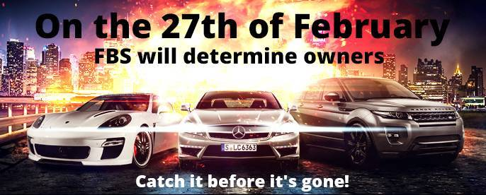 Hurry up to take part in FBS Auto Cup – only one month left till the cars drawing!